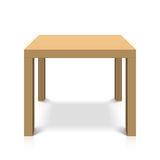 Wooden square coffee table. Illustration Stock Images