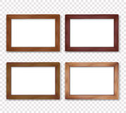 Wooden square vector photo frame collection Stock Photo