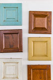 Wooden squares in colors Royalty Free Stock Images