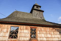 Wooden St Mary`s Church in Laliki Royalty Free Stock Photos