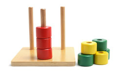 Wooden Stack and Sort Toy. On White Background Royalty Free Stock Photos