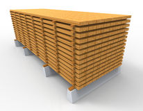 Wooden stack Royalty Free Stock Photography