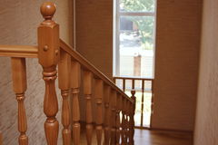 A wooden stair Royalty Free Stock Image