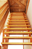 Wooden stair. Stock Photos