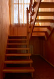 Wooden stair Stock Images