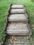 Wooden stair Royalty Free Stock Photography