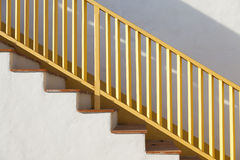 Wooden stair case. The Wooden stair case,outdoor Stock Photos
