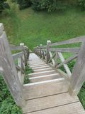 Wooden stair Royalty Free Stock Image