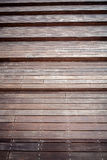 Wooden stair detail Royalty Free Stock Images