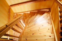Wooden staircase. In a Swedish villa house Stock Images