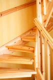 Wooden staircase. In a Swedish villa house Royalty Free Stock Photos