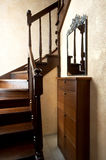 Wooden staircase Stock Photo
