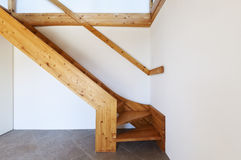 Wooden staircase Stock Photography