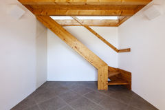 Wooden staircase Stock Images