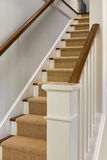 Wooden staircase and banister Stock Photos
