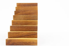 Wooden staircase construction Royalty Free Stock Photos
