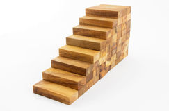 Wooden staircase construction Royalty Free Stock Images