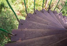 Wooden staircase. I'm a simple wooden staircase of the house Royalty Free Stock Photography