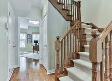 Free Wooden Staircase Interior Royalty Free Stock Photos - 112441598