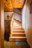 Wooden staircase Royalty Free Stock Photo