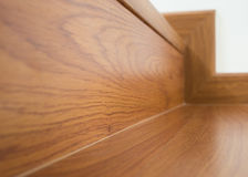 Wooden staircase interior Royalty Free Stock Photos