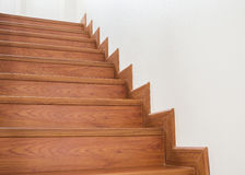 Wooden staircase interior Royalty Free Stock Images