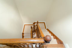 Wooden staircase interior Stock Photography