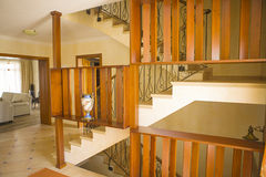 Wooden staircase Royalty Free Stock Images