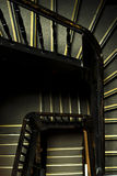 Wooden staircase in an old building Royalty Free Stock Photography