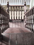 The wooden staircase Stock Image