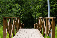 Wooden staircase in the park Royalty Free Stock Photography