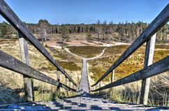 Staircase and plank bridge on Amrum royalty free stock photography