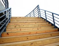 Wooden Staircase to the Sky Royalty Free Stock Images