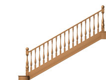 Wooden stairs. Isolated on white Royalty Free Stock Image