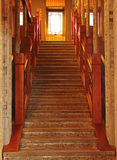 Wooden stairs Royalty Free Stock Images