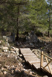 Wooden stairs in ancient city Stock Photography