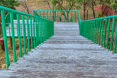 Wooden Stairs and Deck Downhill Stock Photography