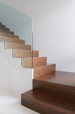 Wooden stairs Royalty Free Stock Photos
