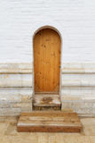 Wooden stairs and the door Royalty Free Stock Photo