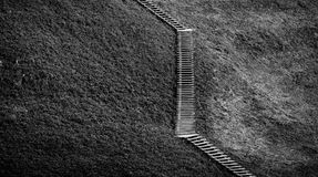 Wooden stairs and grass Stock Photography