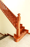Wooden stairs and handrail Stock Image