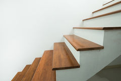 Wooden stairs in home Royalty Free Stock Images