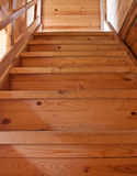 Wooden stairs in a house Royalty Free Stock Images
