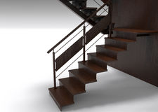 Wooden stairs illustration Royalty Free Stock Image
