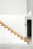 Wooden stairs in modern house Stock Photography