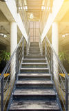 Wooden stairs in office Stock Images