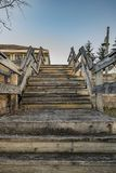 Wooden Stairs. Outdoor in A Public Park in Upstate, New York Stock Photo