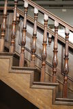 Wooden stairs and railings Royalty Free Stock Photo