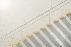 Wooden stairs side stock illustration