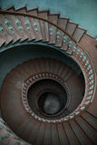 Wooden stairs in tenement house Royalty Free Stock Photo
